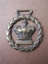 Horse Brass  Crown   Height 3.25 inches Width 2.75 inches approx