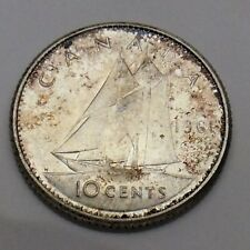 1961 Canada 10 Ten Cents Silver Dime Canadian Uncirculated Coin F729