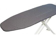 Dekonaz Bügelbrettbezug Bügeltischbezug Bezug Baumwolle Schwarz Weiß 122x38 cm