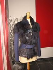 VESTE LAINE FAUSSE FOURRURE JACKET WOOL & FAUX FUR SAVE THE QUEEN T XS  36 UK  8