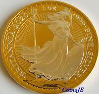 2020 £2 Silver Britannia Gold Gilded 1 oz Troy Ounce .999 Silver Bullion Coin