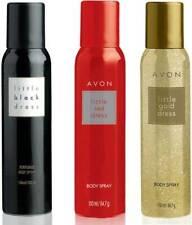 Avon Little Black Dress + Red Dress + Gold Dress Body Spray For Women(120ml x 3)