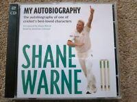 SHANE WARNE My Autobiography CRICKET Australia 2 CD AUDIOBOOK