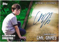 Walking Dead Evolution Auto Autograph Card Green Chandler Riggs Carl Grimes /25