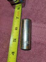 """THORSEN  618J  USA made  DEEP SOCKET  3/8"""" drive, 9/16""""  12 POINT    A225"""