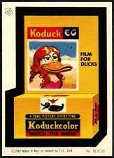 Koduck Film For Ducks #18/30 Wacky Packages 1982 Irish Sticker (C899)