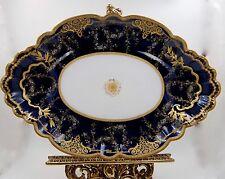 EXQUISITE LIMOGES HAVILAND COBALT GOLD ENCRUSTED & JEWELS  BOWL PLATTER ...HUGE