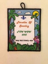 Three Fires Council 2003 POW WOW Paradise of Scouting hanger patch 3-1/2 X 4-1/2