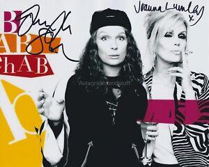Joanna Lumley & Jennifer Saunders HAND SIGNED 8x10 Photo Absolutely Fabulous B