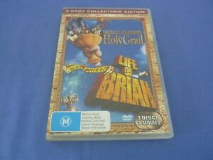 Monty Python and the Holy Grail / Life Of Brian DVD John Cleese R4 Free Tracked