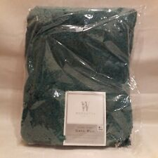 Wamsutta Ultra Soft Bath Rug 17In x 24in Stain Fade Resistant Teal Made In USA