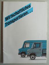 Prospekt Mercedes Wirtschaftliches Transportieren-Großtransporter, 3.1987, 20 S.