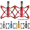 "Road Mountain Bike Pedals Flat Aluminum Alloy Sealed Bearing 9/16"" For MTB BMX"