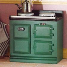Casa de muñecas en miniatura 1:12th Escala Verde Aga estilo Estufa