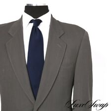 Giorgio Armani Black Label Silk Blend Cement Grey Honeycomb Weave Suit 38 NR