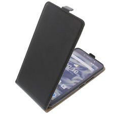 Funda para Alcatel Pixi 4 6.0 3g protectora Teléfono Móvil con tapa negro