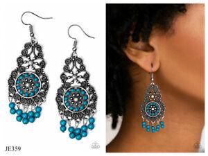 NWT! Paparazzi ~ Courageously Congo ~ Blue Earrings