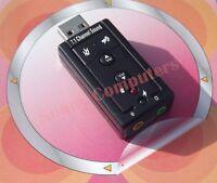 USB 2.0 to 3D Audio Sound Card External Adapter Virtual 7.1 CH Mic Headphone New