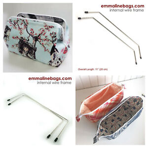 INTERNAL WIRE BAG FRAMES by Emmaline Bags - range of styles - bag making
