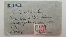 MALAYA cover airmail to Norway Oslo via Paris, Malmö Luftpost mark