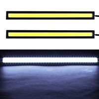 2x Super Bright COB White Car LED Lights 12V for DRL Fog Driving Lampe Verkauf