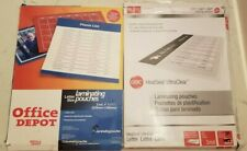 New Letter Size 9 X 115 Laminating Pouches Office Depot Amp Gbc Total 68 3mil