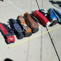 Golf Bags Lot Nike FILA Vintage Antique Leather Decor Resale Liquidation Rare