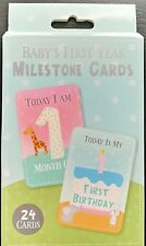 24 BABY UNISEX MILESTONE CARDS FIRST YEAR MEMORABLE MOMENTS BABY SHOWER GIFT