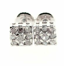 0.72 ct solitaire real diamond wedding engagement stud earring 18k white gold
