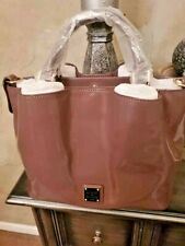 """Dooney & Bourke Small Patent Leather Brenna Bag Purse """"Mink""""  NWT!!7"""