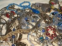 Lot Of Mixed Tangled Costume Jewelry 6lbs Worth Better Than Goodwill!