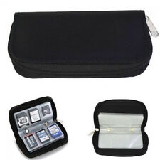 Black Memory Card Storage Carrying Case Holder Wallet for CF/SD/SDHC/MS/DS
