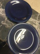 2 Fiesta ware Blue Dinner Plates