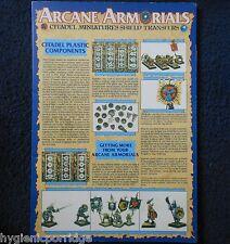 1987 Arcane Armorials Citadel Miniatures Shield Transfers Waterslide Decals GW