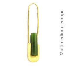 Art Deco Stil Gold Brosche 333 Jade brooch earring 8ct