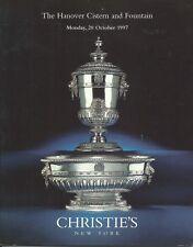 CHRISTIE'S HANOVER CISTERN FOUNTAIN German Royal Silver Auction Catalog 1997