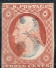 "#10A Fancy Blue ""3"" Numeral Cancel SCV. $160 (JH 4/19)"