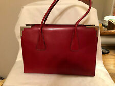 *MUST SEE* *NEW* Escade Red Leather Tote Bag
