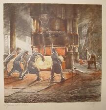 Brusenbauch Stahlwerk Niederdonau Ternitz Stahlkocher Hochofen Stahl  Industrie
