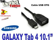 Cable USB OTG para SAMSUNG GALAXY TAB4 Tab 4 10.1 SM-T530 SM-T531