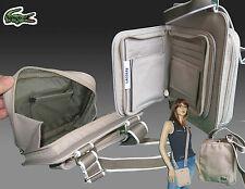 New Authentic LACOSTE Cross-over Unisex Shoulder Wallet Bag Casual 2.3 Lt Beige