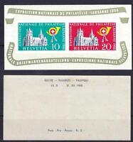 Schweiz Block 15 **, nat. Briefmarkenausstellung 1955, postfrisch, MNH