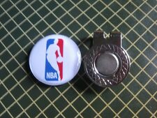 GOLF / NBA Logo Golf Ball Marker/with Magnet Hat Clip New!!