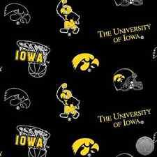 140226219 - University of Iowa Hawkeyes UI 035 Fleece Fabric NCAA By the Yard