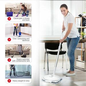 Electric Spin Mop Floor Scrubber Wireless Clean Spray Adjustable Handle Polish