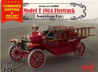 ICM 24004 - 1/24 - American Car model T 1914 Firetruck scale model kit