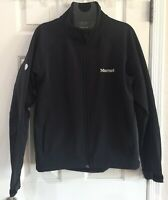 Mens Marmot Jacket SZ M Black Full Zip Fleece Lined Nylon Blend