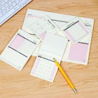 Semanal Notas planificador de trabajo cuaderno Agenda Escuela papelería