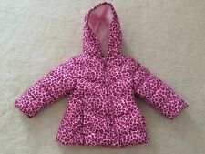 Toddler infant girls size 24 months Healthtex insulated winter coat pink leopard