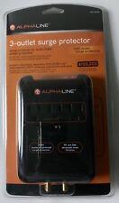 Alphaline 3-Outlet Surge Protector 1080 Joules Surge Protection
